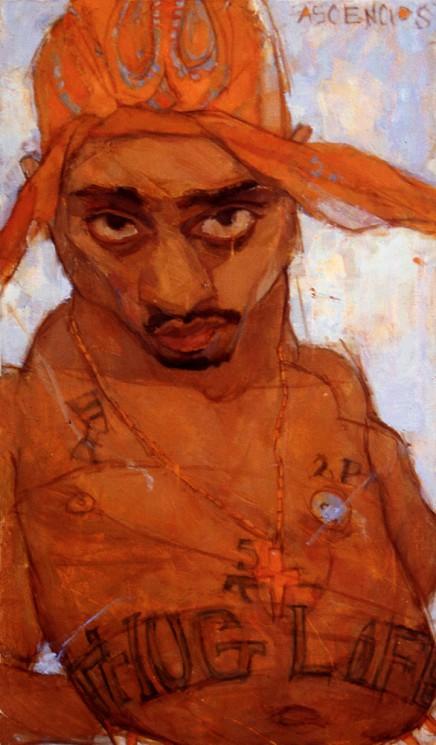 Tupac Shakur portrait by Natalie Ascencios