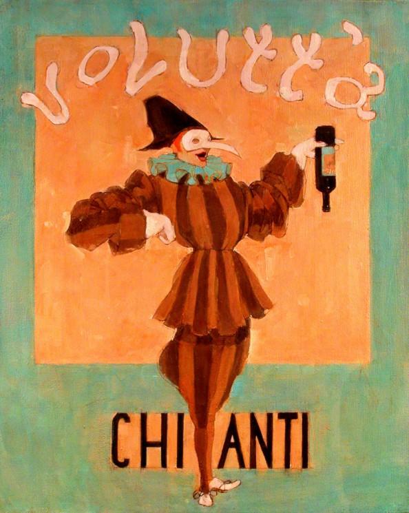 Volutta Chianti label by Natalie Ascencios